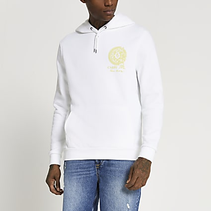 Ecru Carpe Diem Blur hoodie
