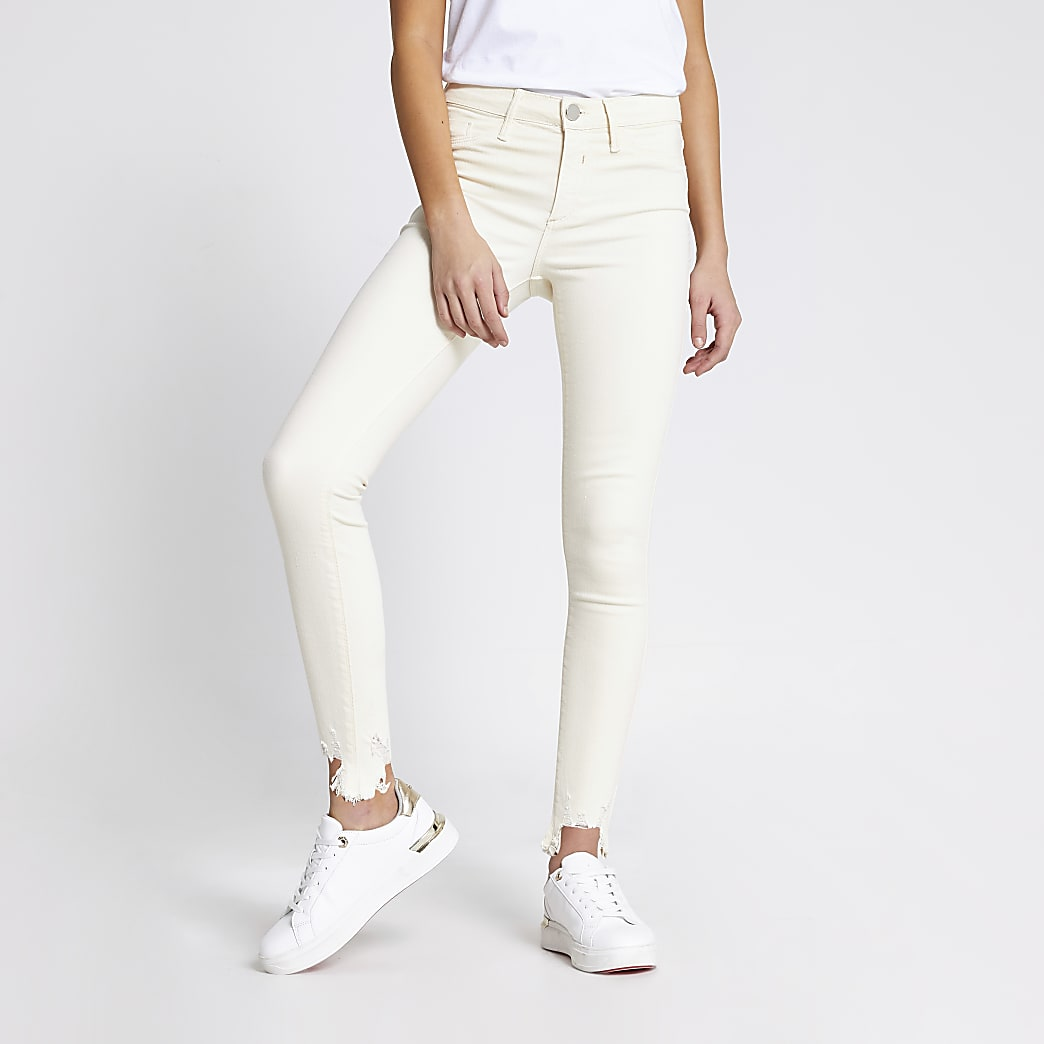 Ecru Molly mid rise jeggings
