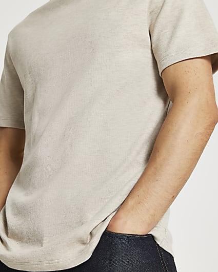 Ecru premium essentials regular fit t-shirt
