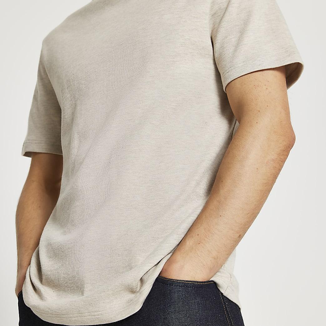 Ecru premium essentials t-shirt