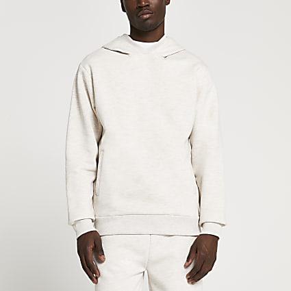 Ecru premium hoodie