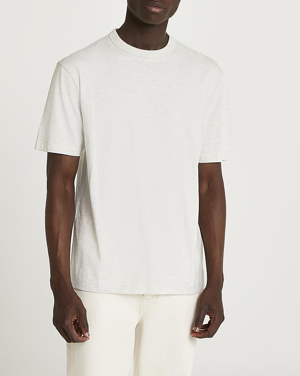 Ecru regular fit t-shirt