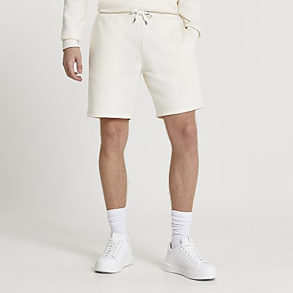Ecru RI slim fit shorts