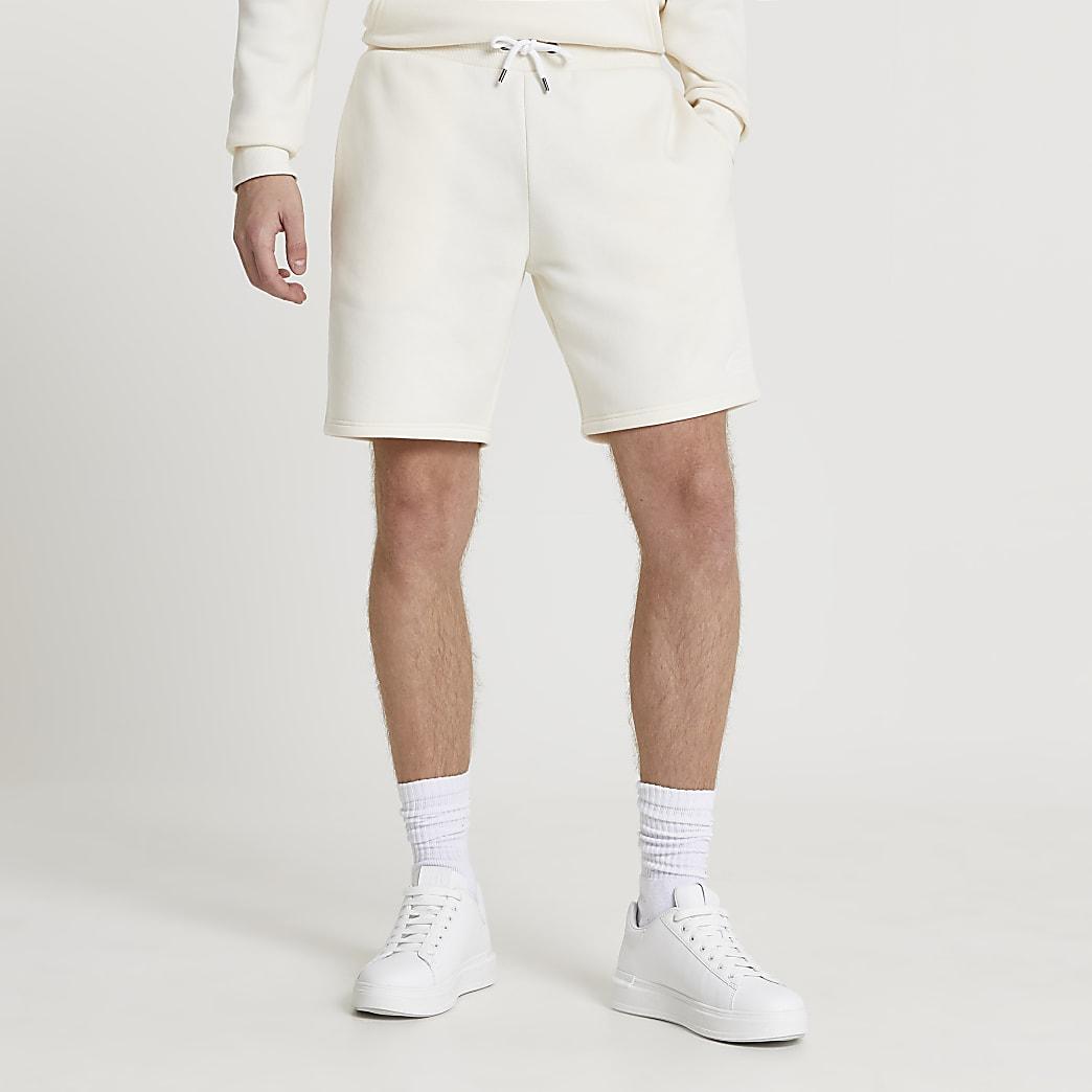Ecru RI slim fit shorts