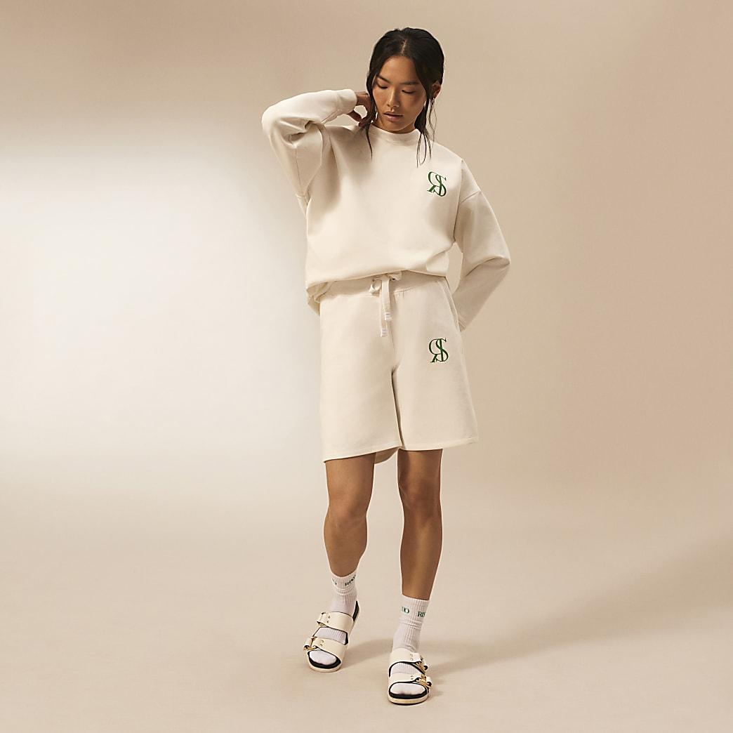 Ecru RI Studio sweat shorts