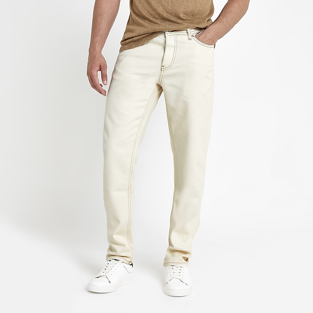 Ecru Ronnie relaxed straight jeans