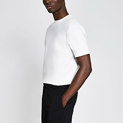 Ecru slim fit t-shirt