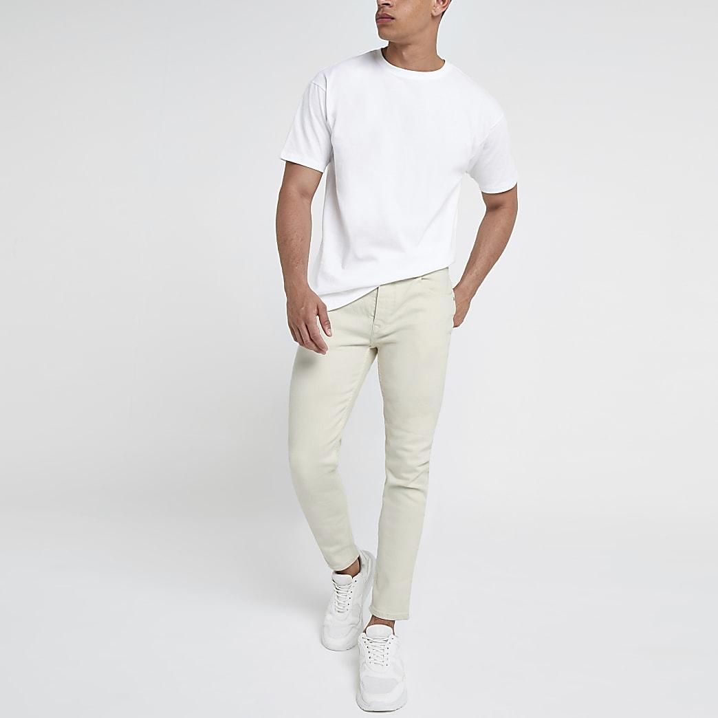 Ecru smaltoelopende jeans