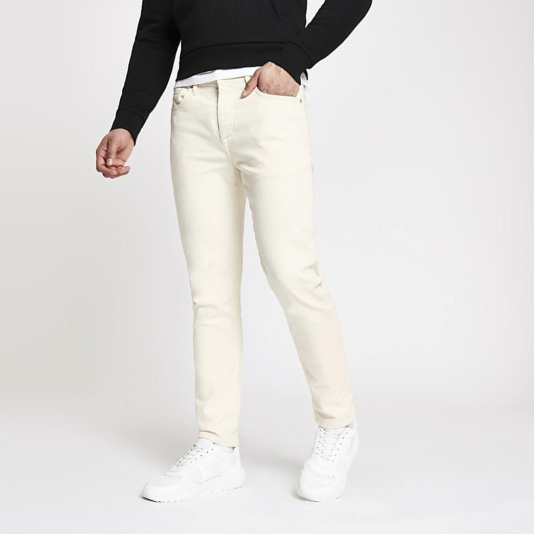 Ecru tapered Jimmy jeans