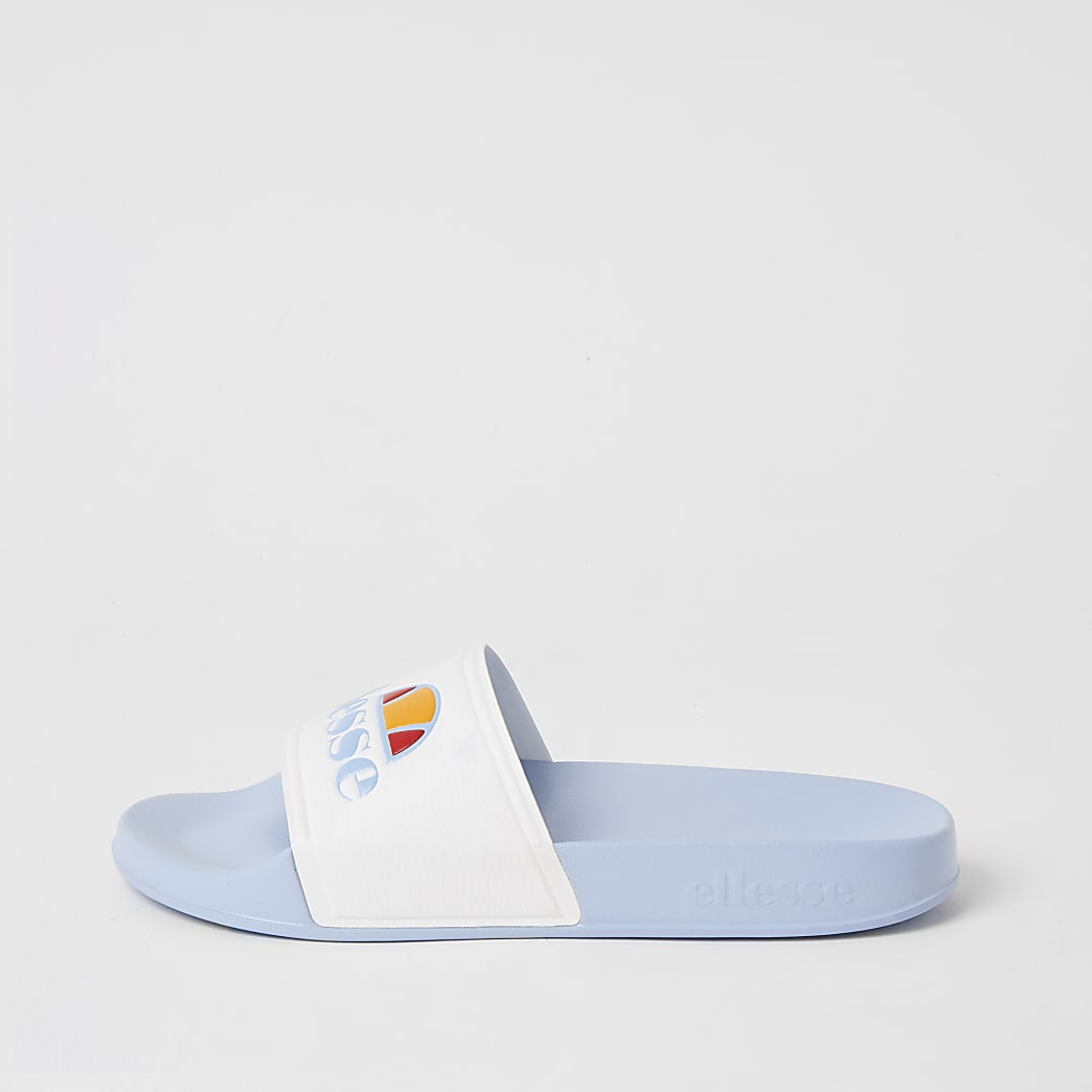 Ellesse blue branded sliders