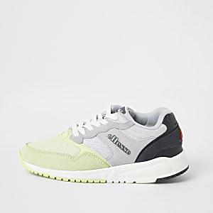 Ellesse – Baskets NYC84 gris et vert