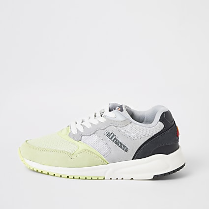 Ellesse NYC84 grey and green trainers