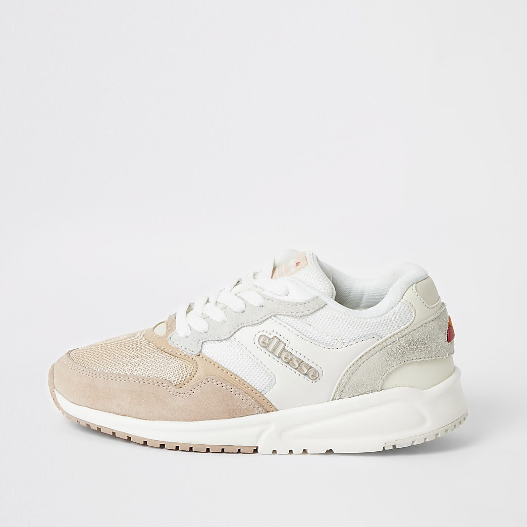 Ellesse NYC84 pink lace-up trainers