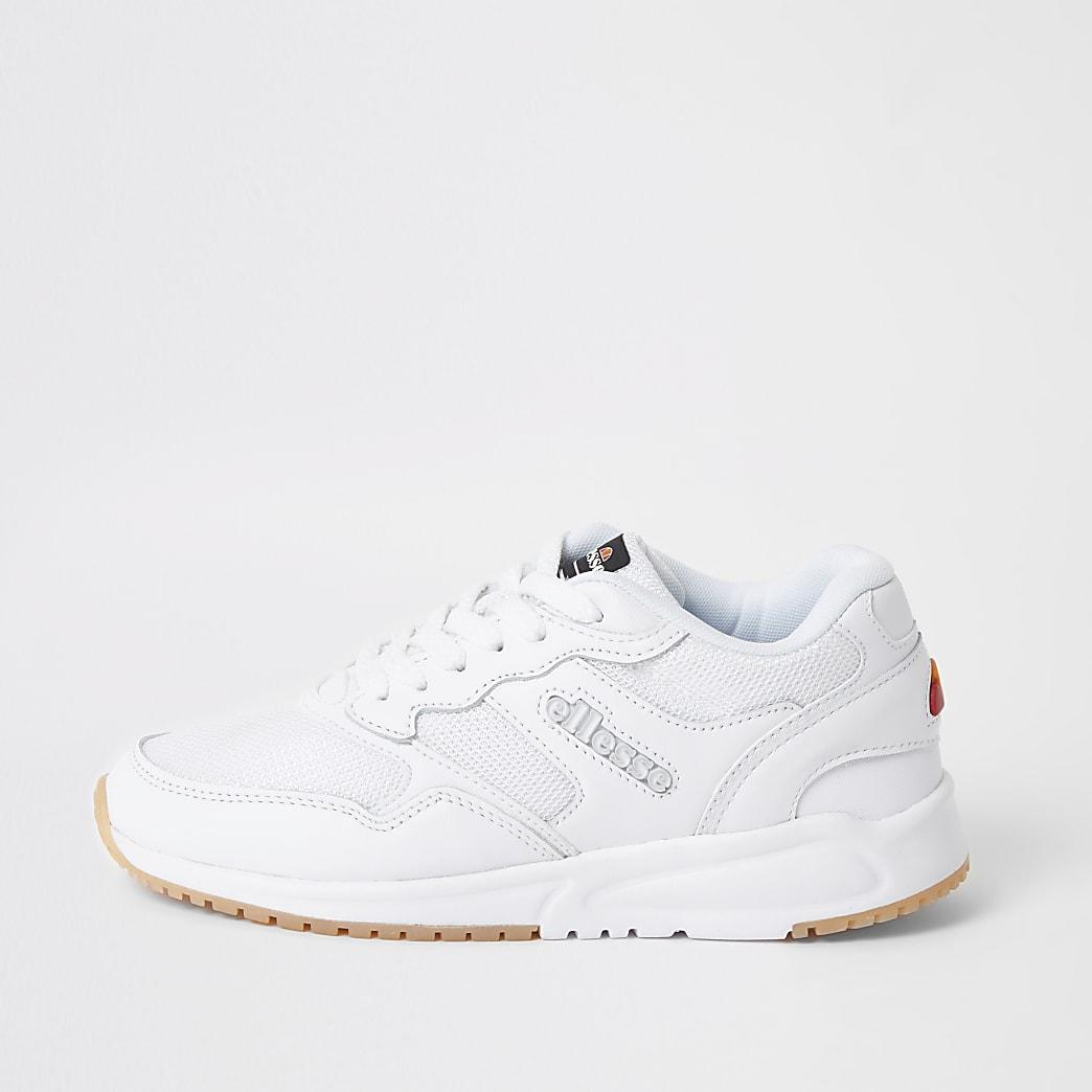 Ellesse - Witte NYC84 sneakers met vetersluiting