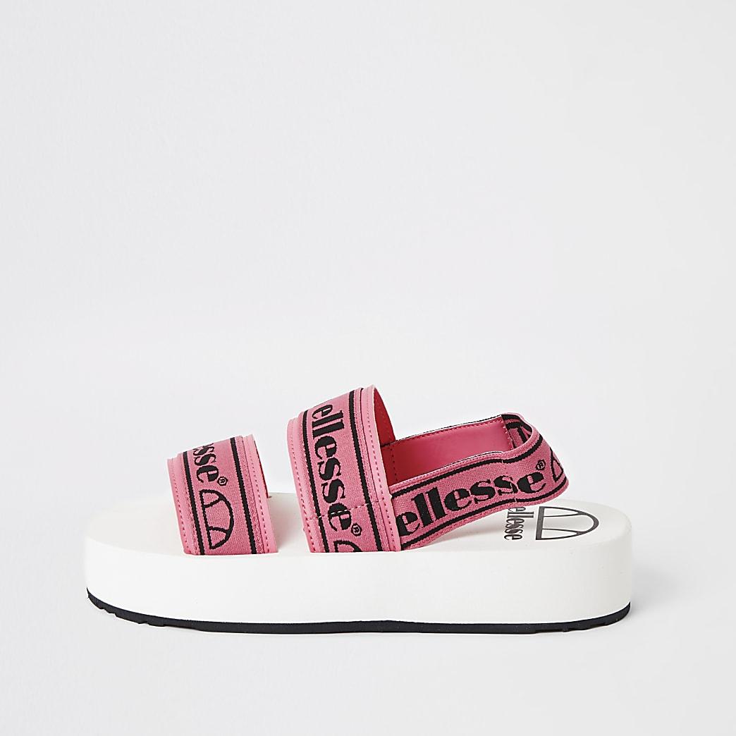 Ellesse– Sandales à semelle plateforme et bride roses