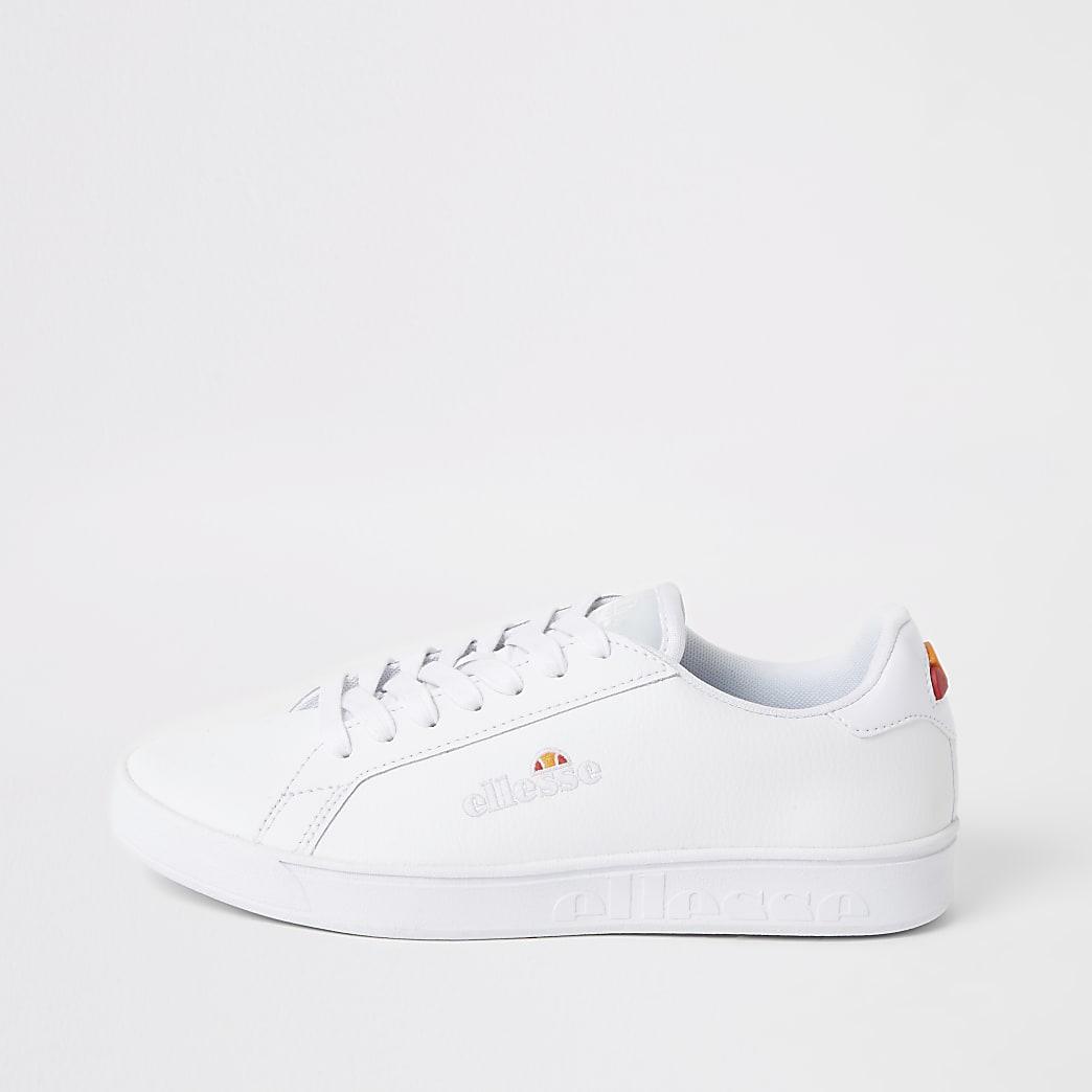 Ellesse - Witte leren sneakers met vetersluiting