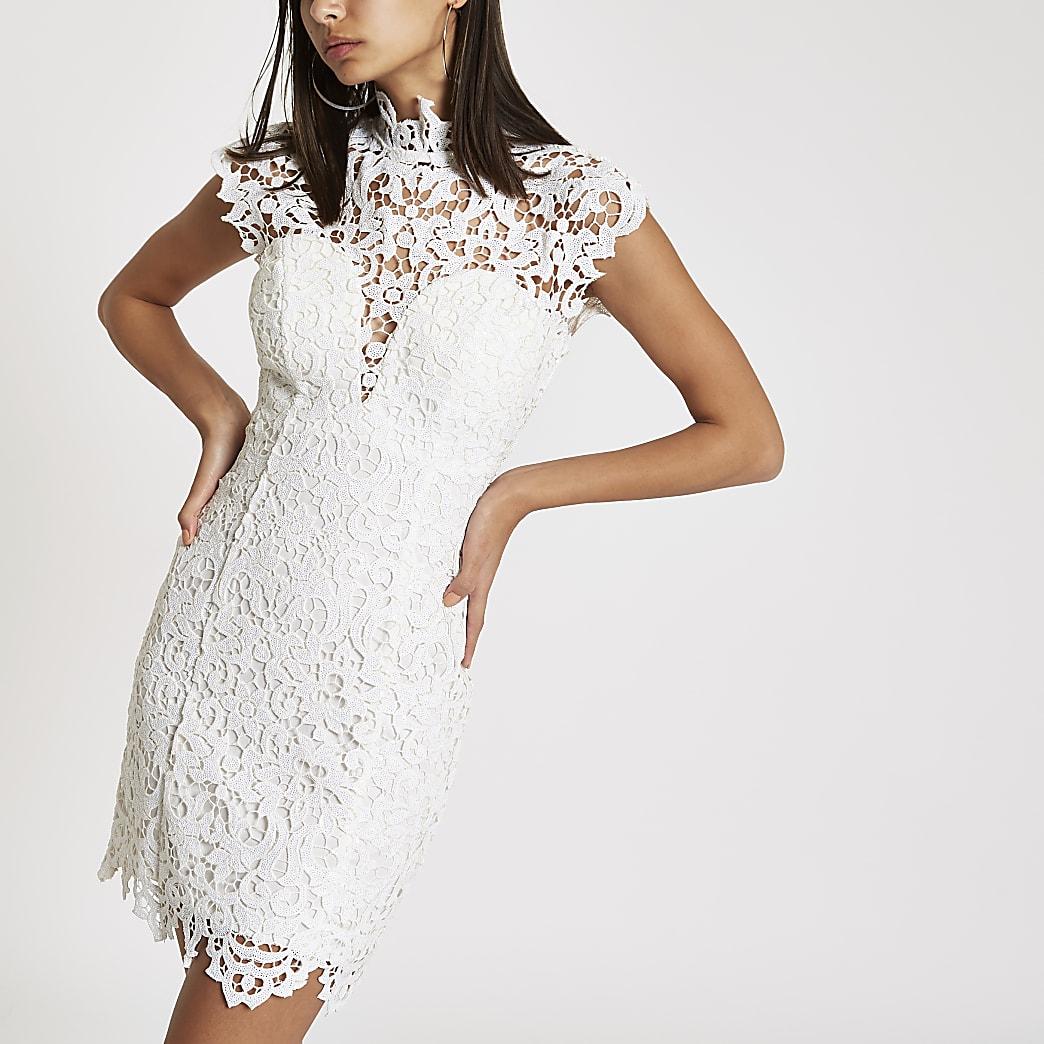 Forever Unique white lace bodycon dress