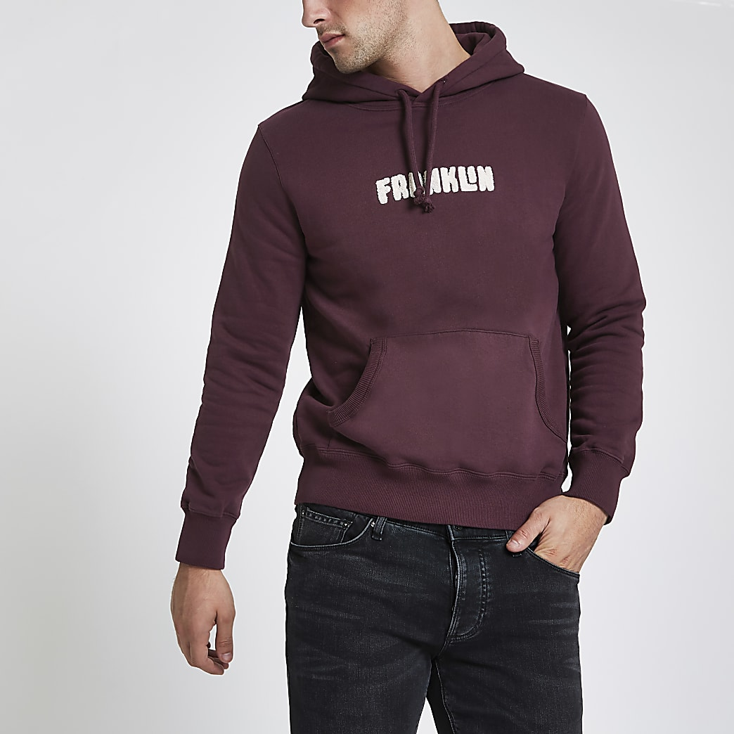 Franklin & Marshall - Bordeauxrode hoodie