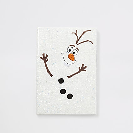 Frozen Olaf sparkle notebook