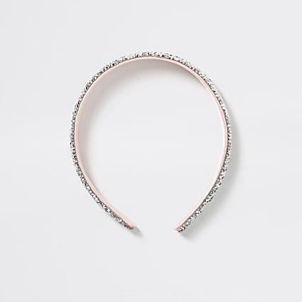 Girl pink chunky glitter headband