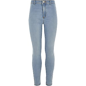 Girls  blue Kaia high rise skinny jeggings