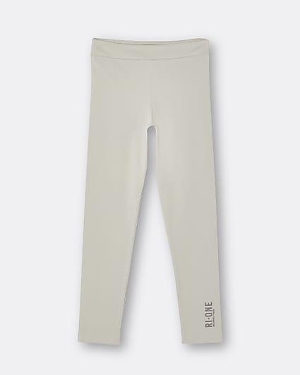 Girls beige RI One leggings