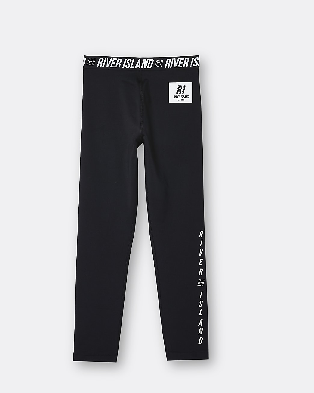 Girls black active leggings