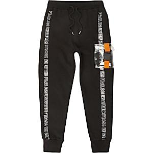 Pantalon de jogging noir avec pocheà fermoir pour fille
