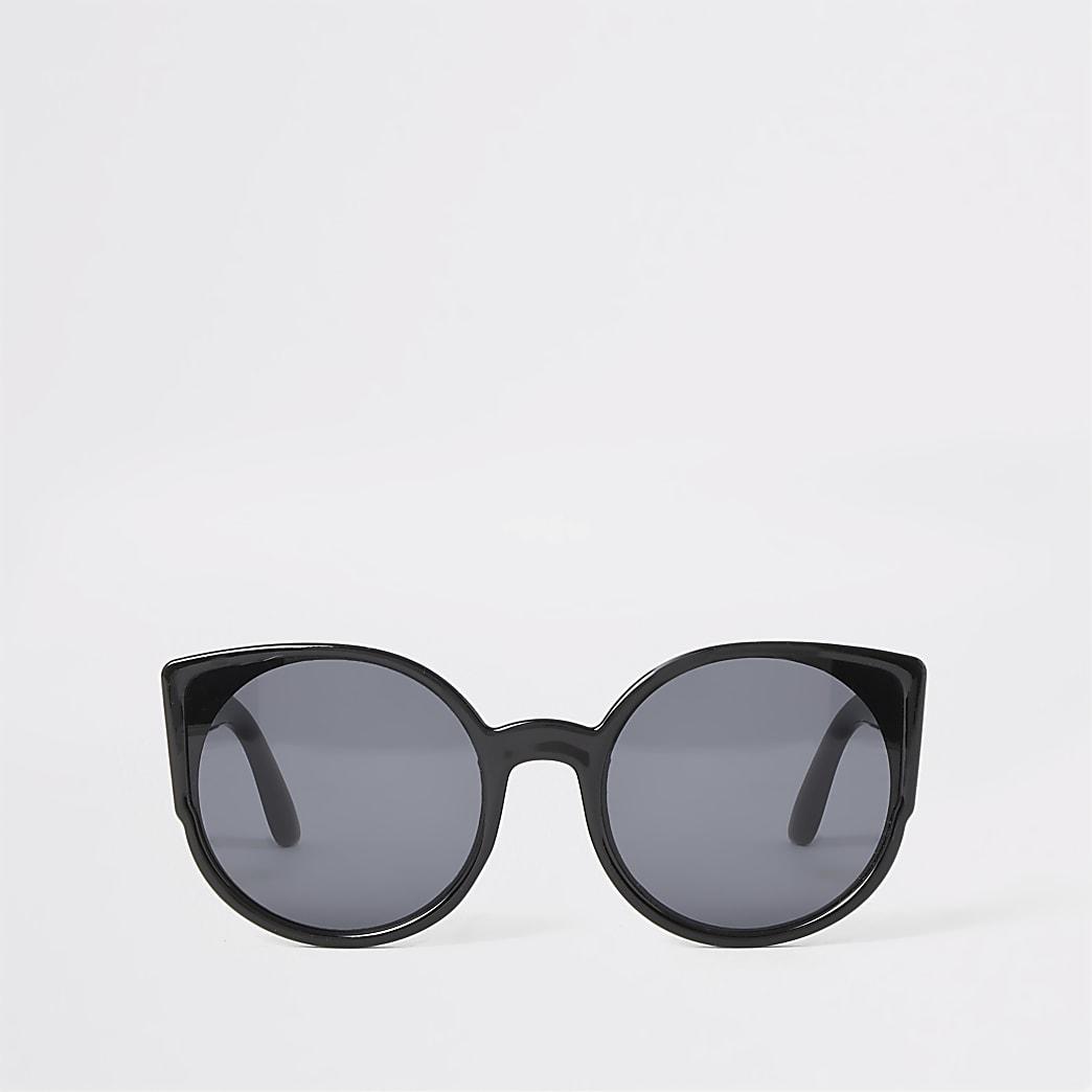 Zwarte cat-eye-zonnebril voor meisjes