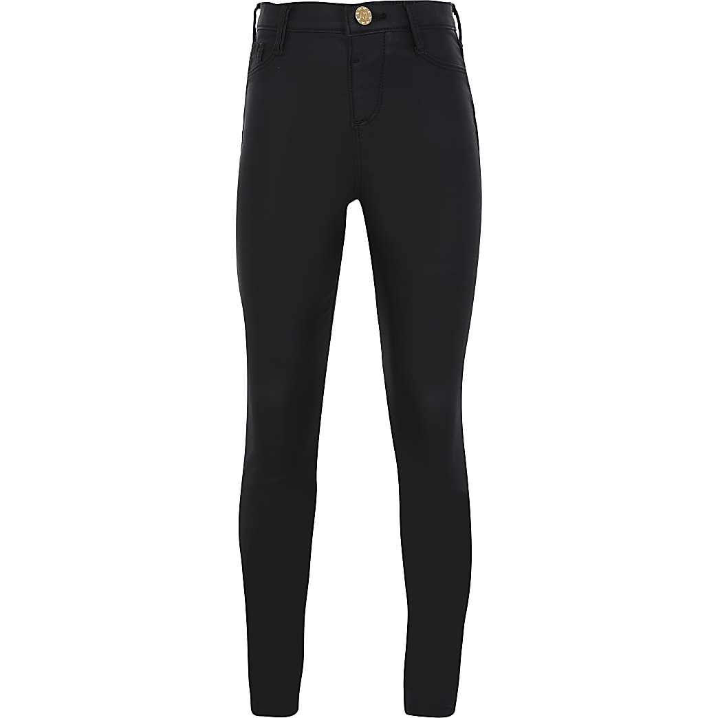 Girls Black Coated Molly Jean
