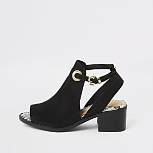 Schwarze Shoe Boots mit Ausschnitt