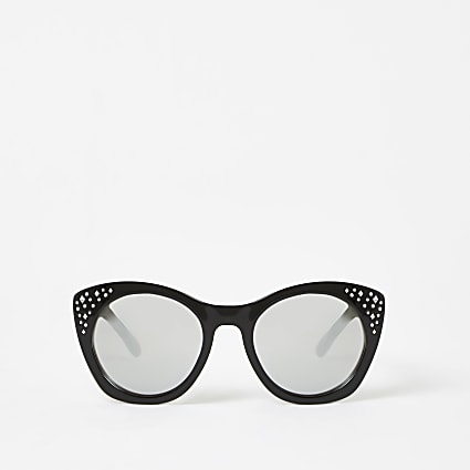 Girls black embellished glam sunglasses