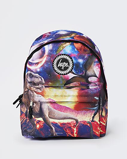 Girls black Hype space dinosaur backpack