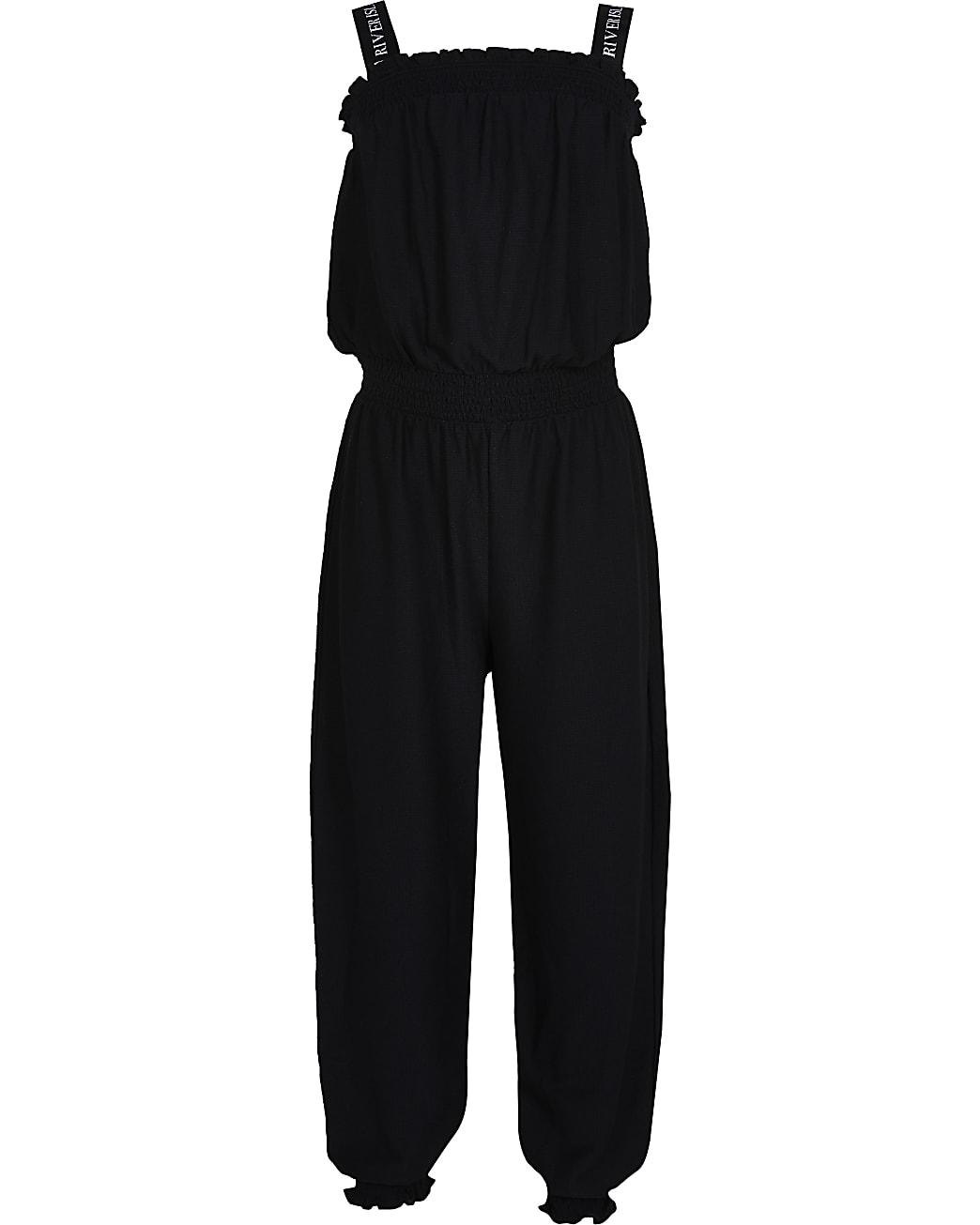 Girls black jumpsuit
