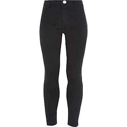 Girls black Kaia high waist disco jeggings