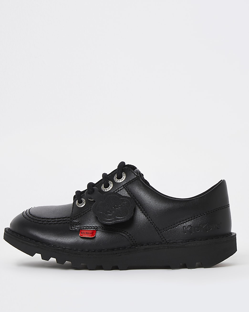 Girls black Kickers lace up shoes