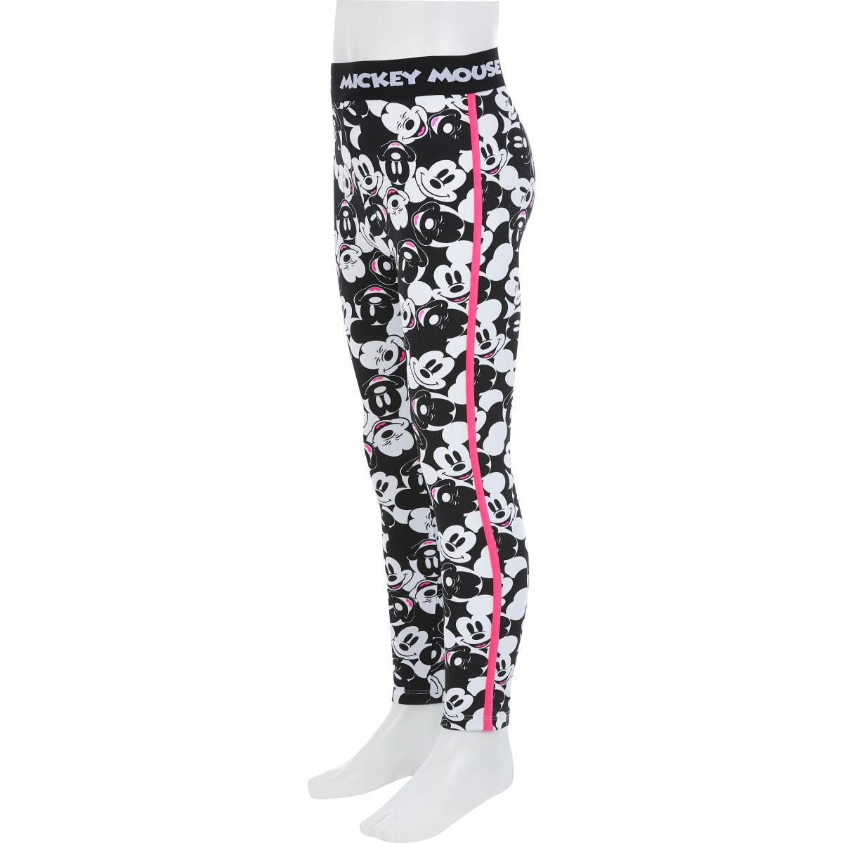 Girls black Mickey Mouse leggings