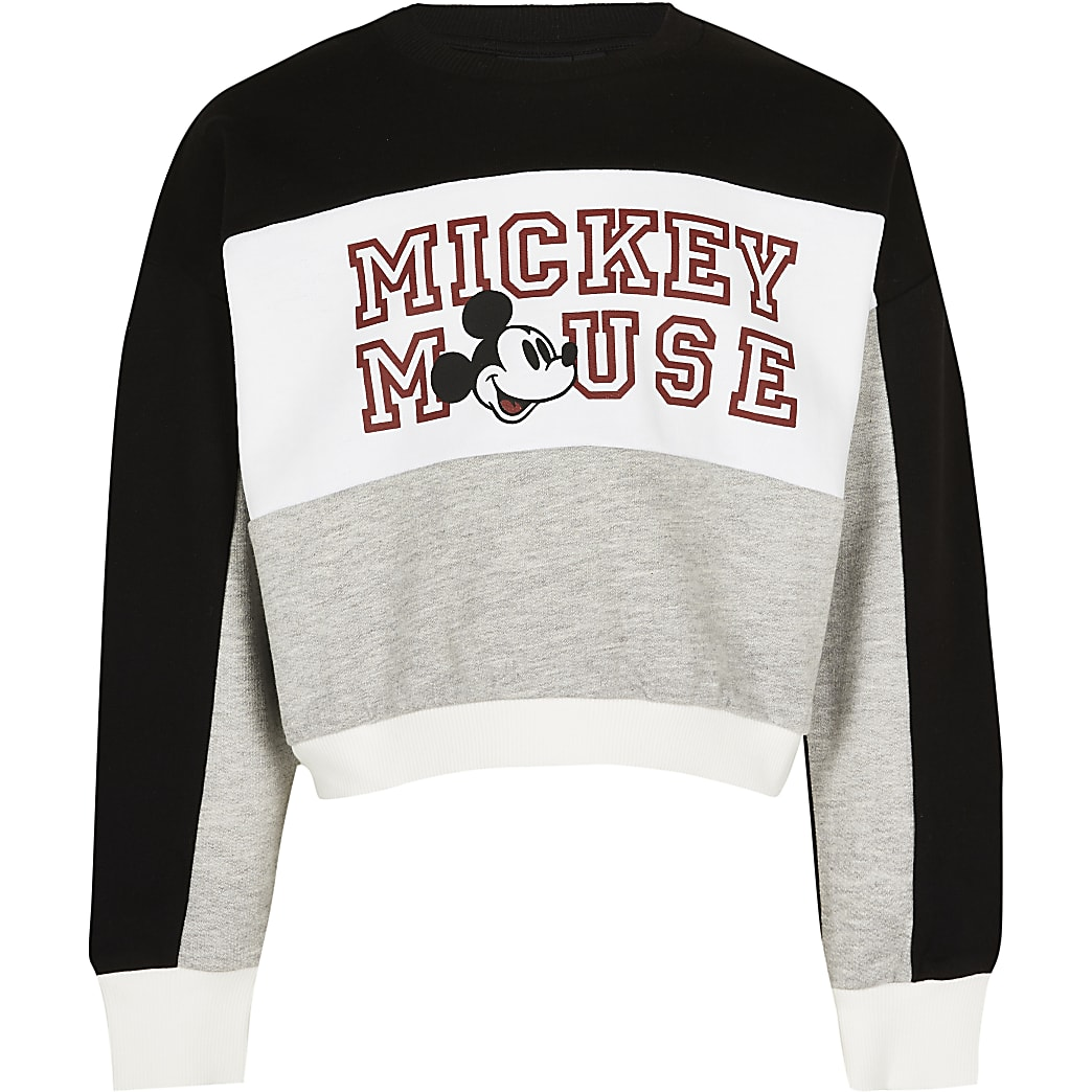 Girls black Mickey Mouse sweatshirt
