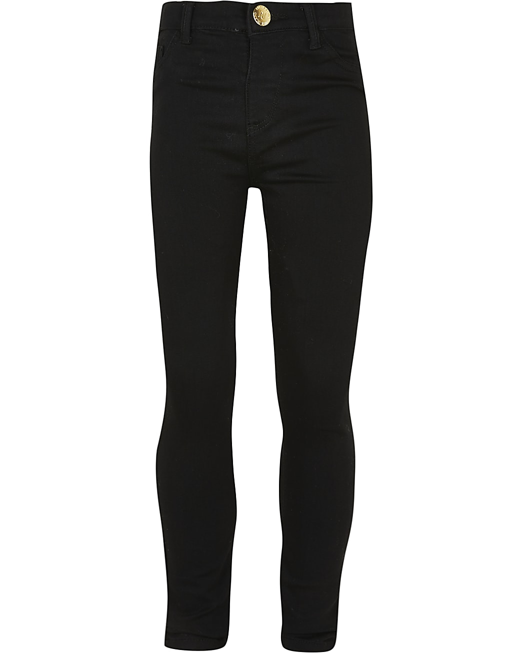 Girls black Molly high rise jeans