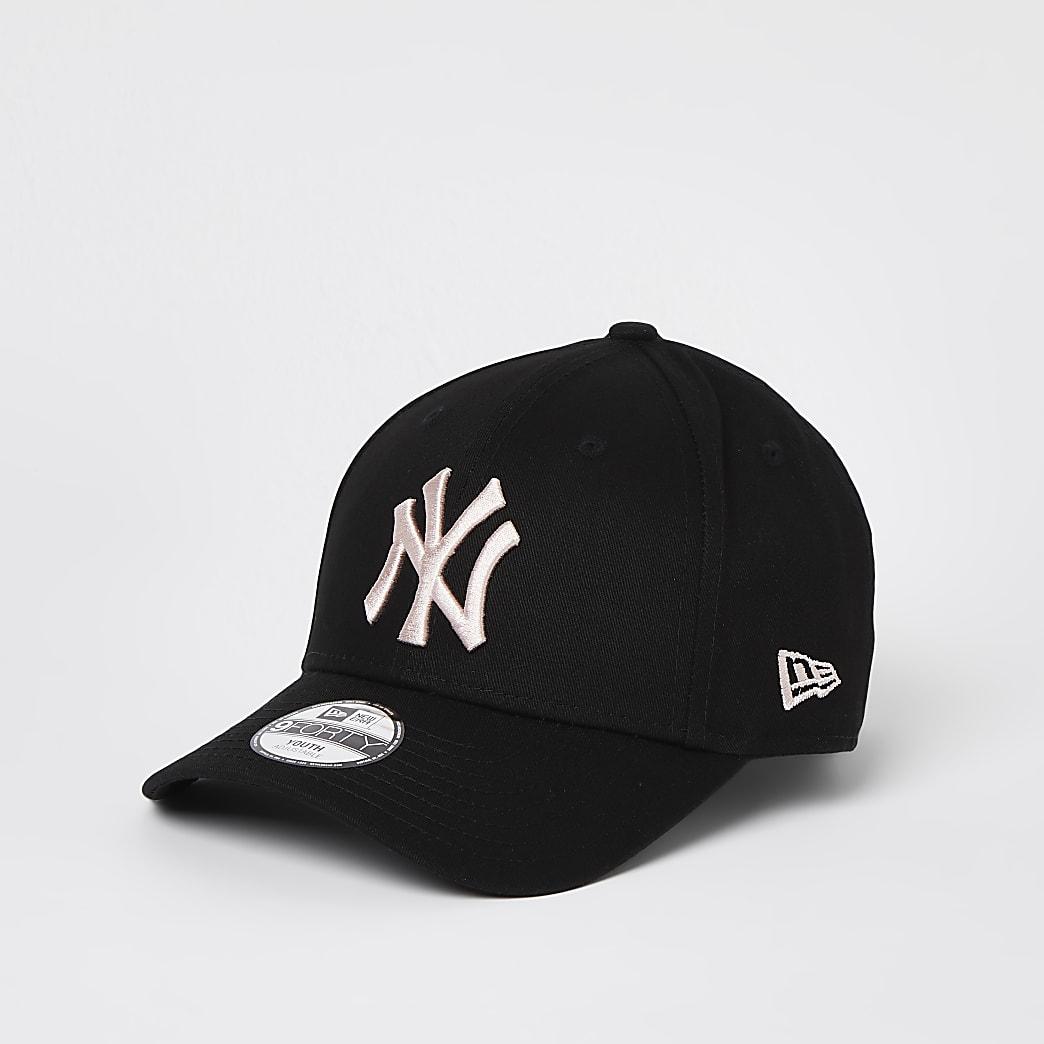Girls black New Era NY cap