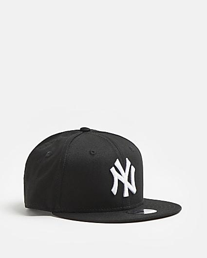 Girls black New Era NY Yankees flat cap