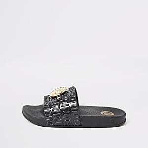 Zwarte verfraaide RI sandalen voor meisjes