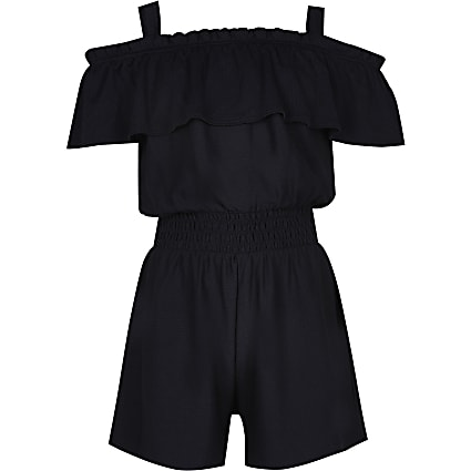 Girls black playsuit