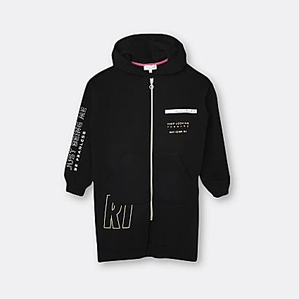 Girls black RI Active 'Be Fearless' hoodie