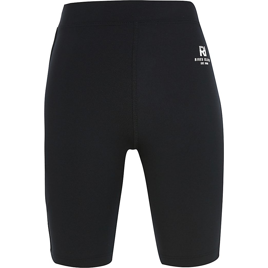 Girls black RI Active cycling shorts