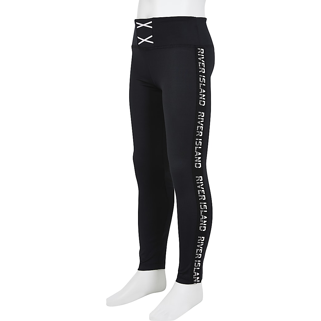 Girls black RI Active leggings