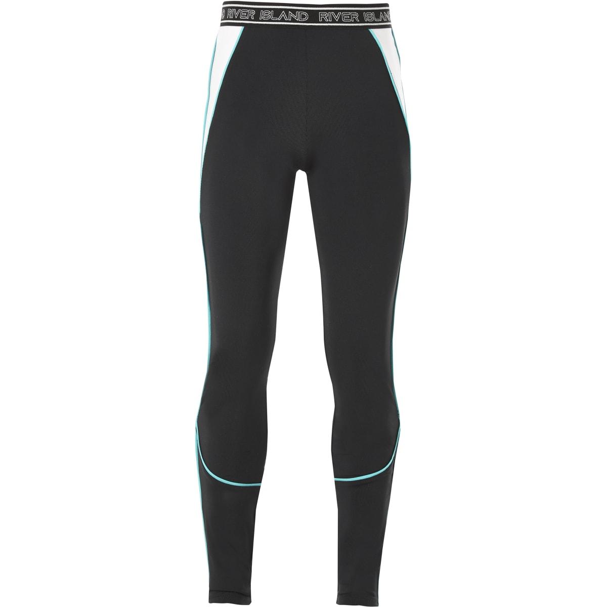 RI Active - Zwarte legging met profiel voor meisjes
