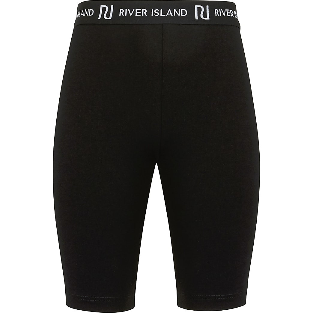 Girls black RI cycling shorts