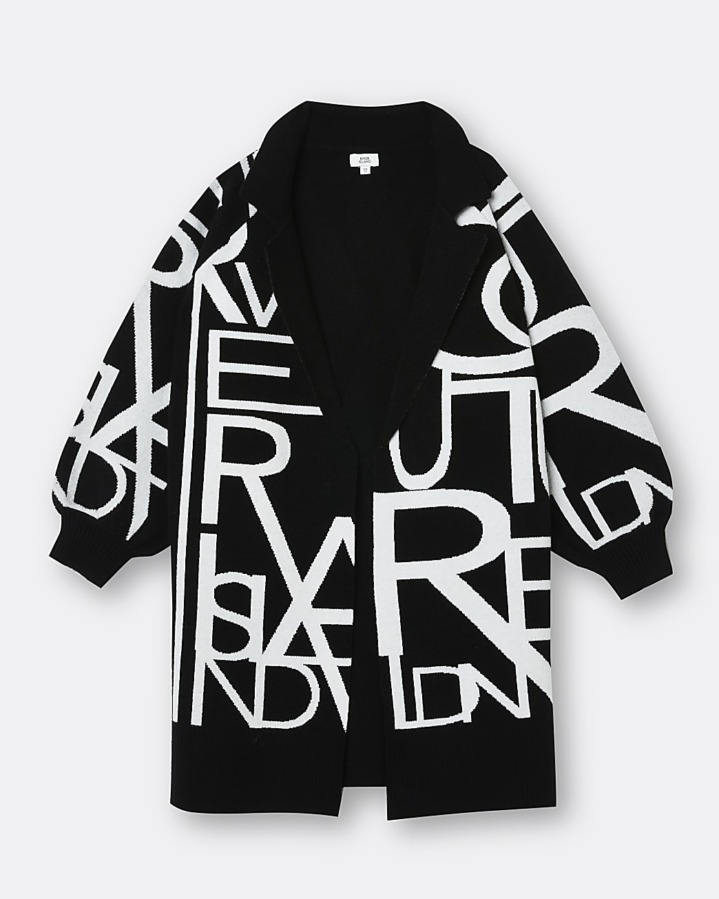 Girls black RI duster jacket