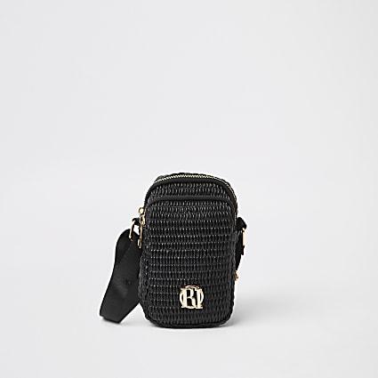 Girls black RI festival bag